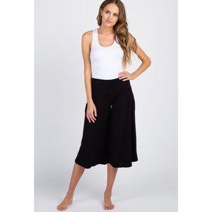 Cropped, wide leg pants
